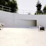 Wilo-Flumen EXCEL built in stormwater retention tank - sewage intake visible