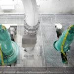 Sewage pump installed at pumping station