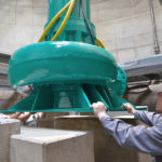 Sewage pump installation at pumping station